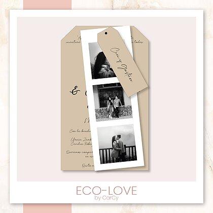 Invitación boda eco Love