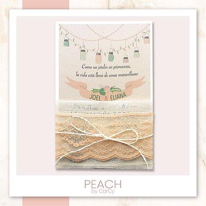 invitación Peach