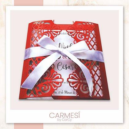 Invitación Carmesi