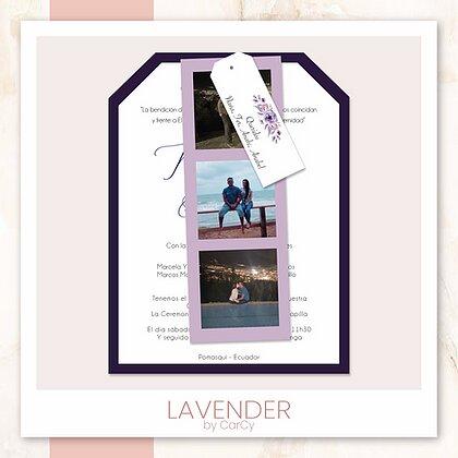 invitación Lavender